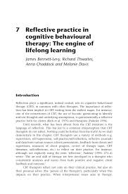 research paper reflective practice in cognitive behavioural research paper reflective practice in cognitive behavioural therapy the engine of lifelong learning