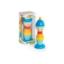 <b>Деревянная игрушка Папа Карло</b> Пирамидка Мальчик ...