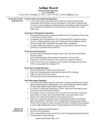personal protection detail resume sample infantry police