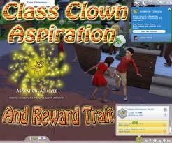 mod the sims class clown aspiration advertisement