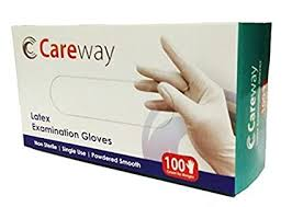 Careway <b>Latex</b> Medical Examination <b>Disposable</b> Hand <b>Gloves</b> ...