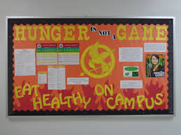 resident assistant bulletin board for healthy eating on campus resident assistant bulletin board for healthy eating on campus hunger games themed ra