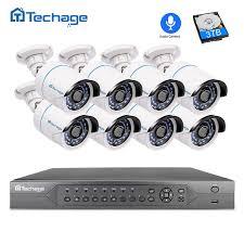 16ch h 265 nvr 16pcs poe cctv system 1920x1080 resolution 25fps hd ir outdoor waterproof onvif network camera kit 6tb hdd