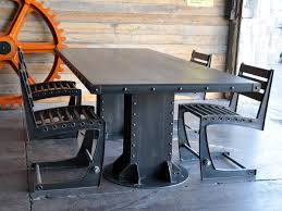 metal dining table base legs bennysbrackets:  images about table base on pinterest wood insert industrial and metals