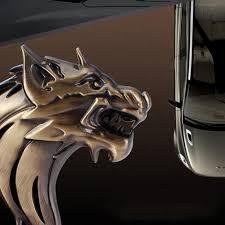 Fashion 3D <b>Car</b> Motorcycle Metal Emblem Badge <b>Cool Wolf Head</b> ...
