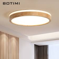 <b>BOTIMI</b> 220V <b>LED Ceiling</b> Lights Wooden Rectangle <b>Ceiling</b> ...