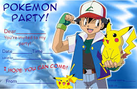 pokemon birthday invitations com pokemon birthday invitations as a result of a bewitching invitation templates printable for your good looking birthday 4