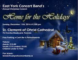 past performances east york concert band 2016 christmas concert