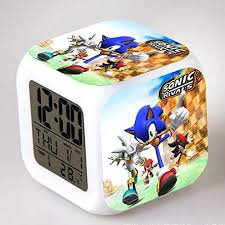 Sonic The Hedgehog <b>LED Alarm Clock</b> Tails Miles Prower <b>Watch</b> ...