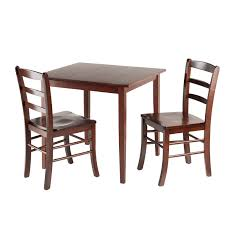 three piece dining set: winsome groveland  piece dining set light oak dining table sets at hayneedle