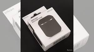 <b>Силиконовый чехол для наушников</b> Airpods чёрный купить в ...