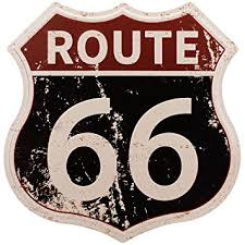 HANTAJANSS Route 66 <b>Signs</b>, <b>Vintage Metal</b> Shop <b>Sign</b>, <b>US</b> 66