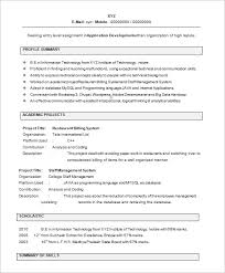 it freshers resume template resume it template