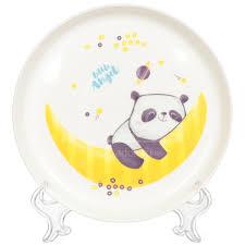Тарелка <b>детская</b> пластиковая <b>Little Angel</b> Panda LA1103-НК, 450 мл