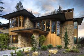 Modern House Plans   Houseplans comSignature Modern prairie style home by Washington State designer   big beautiful master suite