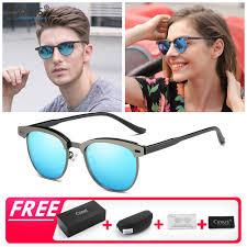 Cyxus <b>2019 Fashion Polarized Sunglasses</b> Half-Rim Retro UV400 ...