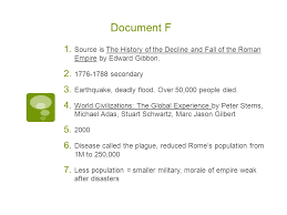 rome dbq answers  document a  chart listing the r  emperors    document f  source is the history of the decline and fall of the r