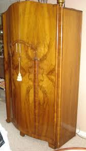 wardrobe antique english mahogany armoire furniture
