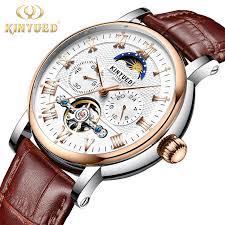 <b>KINYUED Mens Automatic</b> Chronograph Watches Fashion Business ...