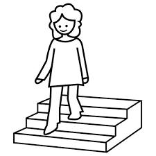 Resultado de imagen para dibujo  escalera