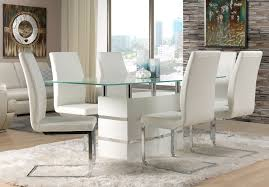 Dining Room Table And Chairs White Dining Room White Modern Diningroom Furniture Packages With Glass