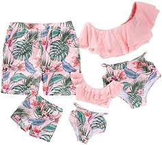 Yaffi Family Matching Swimwear Two Pieces <b>Bikini Set 2019</b> Newest