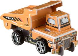 <b>Bondibon</b> Сборная 3D модель <b>Грузовик</b> цвет оранжевый ВВ2216 ...