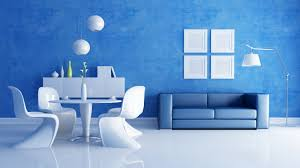 room blue room white furniture