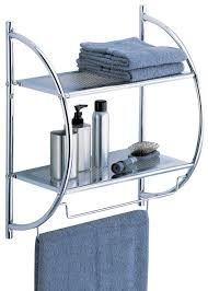 towel racks bathrooms bathroom rack amazoncom organize it all  tier shelf with towel bars w  home amp kitc