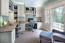 gray home office design with built desk and shelves popular built in home office built desk small home office