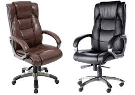 leather high back chair brown leather office chairs
