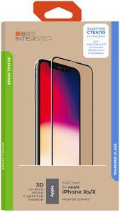 <b>Защитное стекло</b> с рамкой 3D InterStep <b>Full Cover</b> iPhone Xs/X ...