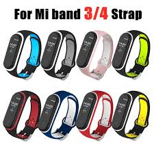 For Xiaomi Mi Band 3 4 Strap <b>Smart</b> Accessories <b>Replacement</b> ...