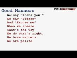 good manners essay for kids  www gxart orggood manners rhyme