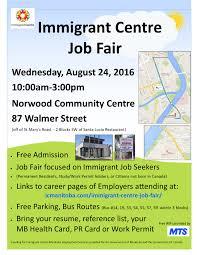 immigrant centre job fair immigrant centre manitoba inc job fair 2016 poster no tips