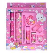 cheap Cartoon <b>Kawaii notebook</b> Pencil Ruler Eraser Sharpener 9 In ...