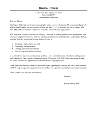 Best Law Cover Letter Examples Livecareer