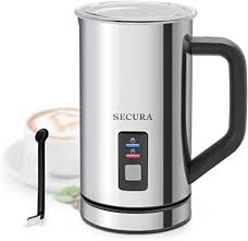 Secura <b>Automatic Electric Milk</b> Frother and Warmer Stainless Steel ...