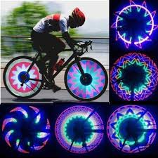 Wheel Spoke <b>Bike Light</b> Cycling <b>Colorful</b> 32 LED 32-pattern ...