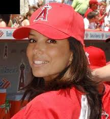 Los Angeles Angels Hat Photograph. Click on the photo to add a spot [Done]. Source: baseball-fever.com - eva-longoria-and-los-angeles-angels-hat-gallery