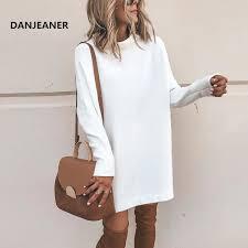 Danjeaner New <b>Spring</b> Turtleneck Solid Knitted <b>Sweaters Dress</b> ...
