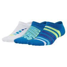 Boys Nike Unisex 3 Pack <b>Performance Cushion No</b> Show Socks 3Y ...