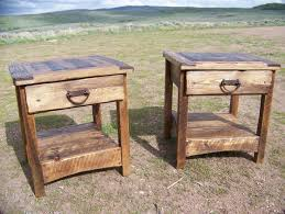 rustic end table country primitive weathered wood lodge cabin build your own rustic furniture