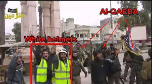 Afbeeldingsresultaat voor white helmets with guns