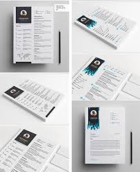 professional resume cv templates dripping header cv and cover letter template