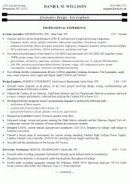 electronic engineer resume electronic engineer resume sample