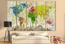 tree scene metal wall art: large world map canvas print wall art  or  panel art extra large world map on canvas wall art living room home amp office decoration