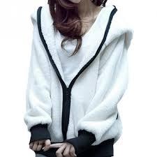 НОВЫЕ <b>женские</b> девушки Sweet Panda Ear <b>Hoodies</b> Wool Furry ...