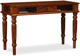 vidaXL <b>Solid Sheesham</b> Wood <b>Writing Table</b> 120x50x76cm Home ...