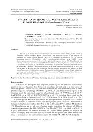 (PDF) Evaluation of biological active substances in flower heads of ...